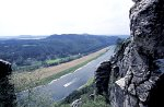 Bastei mit Blick auf die Elbe / Bastian and view on the Elbe river