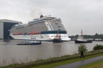 Ausdocken der Celebrity Silhouette, Meyer Werft Papenburg / Undocking Celebrity Silhouette, Meyer Werft Papenburg