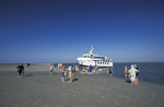 Wattwandern, aussetzen von Touristen / People on mud flats, to unship